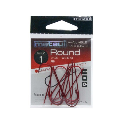 Крючки Metsui Round red № 1