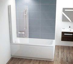 Шторка для ванны Ravak CVS1-80 L белая Transparent
