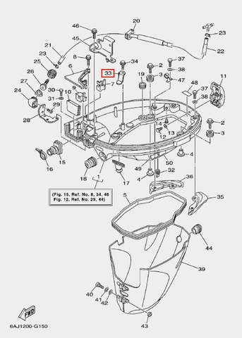 Кронштейн для лодочного мотора F20 Sea-PRO (15-33)