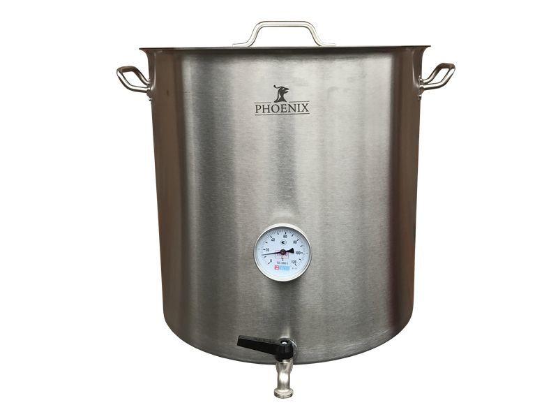 Домашние пивоварни Сусловарочный котел 71,6 л Пивоварня.ру с краном и термометром 011147_1.jpg