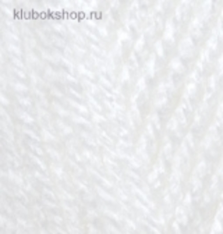 Пряжа Burkum Alize 55 Белый - фото