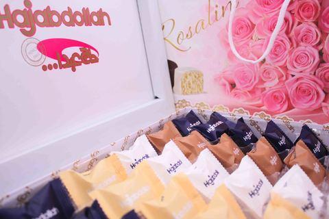 """Пишмание """"Роза"""" с молочным вкусом и вкусом ванили, кофе и имбиря (розовый), Hajabdollah, 300 г"""