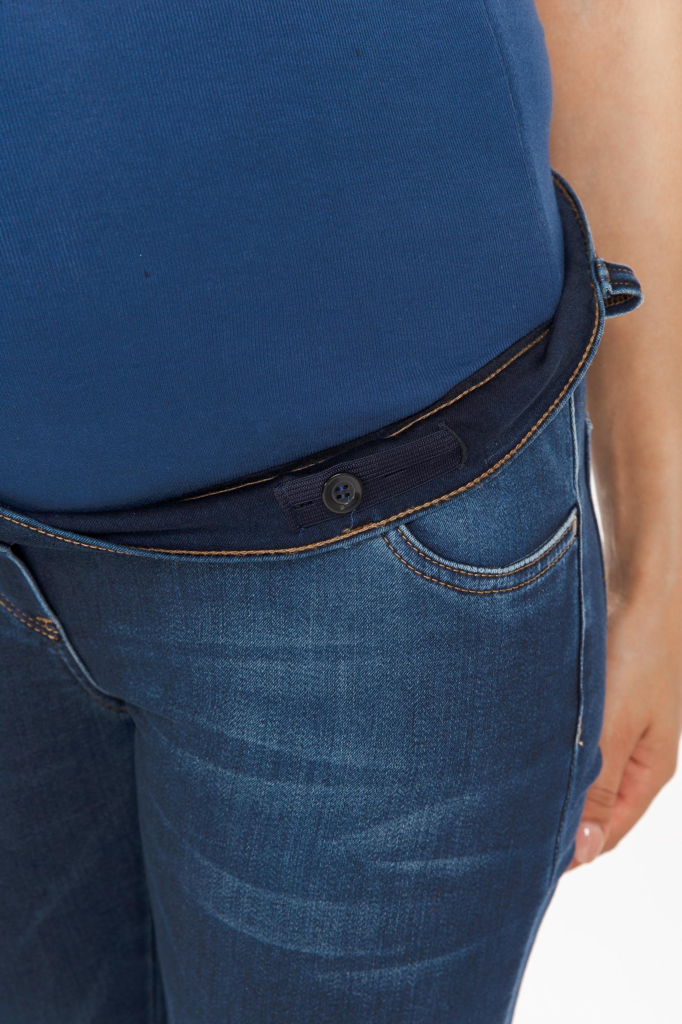 Утепленные джинсы для беременных (SKINNY) 10709 синий