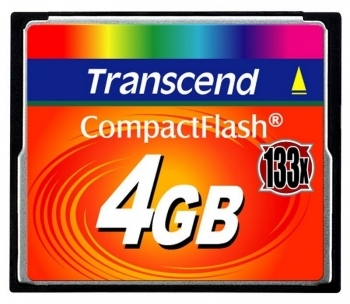 Compact Flash 4Gb Transcend 133x