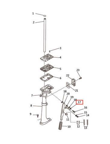 Шайба для лодочного мотора T2,5 SEA-PRO (7-17)