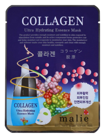 ТКАНЕВАЯ МАСКА ДЛЯ ЛИЦА С КОЛЛАГЕНОМ COLLAGEN ULTRA HYDRATING ESSENCE MASK 25Г