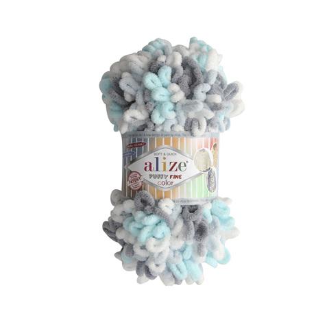 Купить Пряжа Ализе Пуффи Файн Колор Код цвета 5939 | Интернет-магазин пряжи «Пряха»