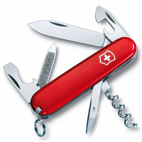 Нож перочинный Victorinox Sportsman (0.3803) 84мм 13функций красный