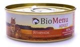 BioMenu CAT ADULT Консервы для кошек мясной паштет с Ягненком 95%-МЯСО 24х100 г.