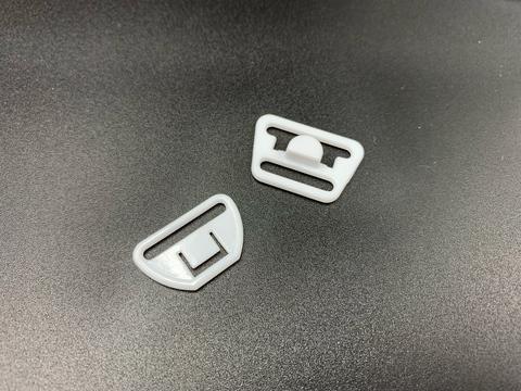 Крючок-застежка для бюстгальтера для кормящих мам белая 20 мм