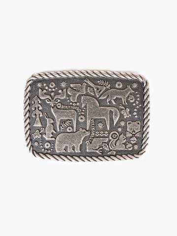 Forest fairytale buckle color old silver