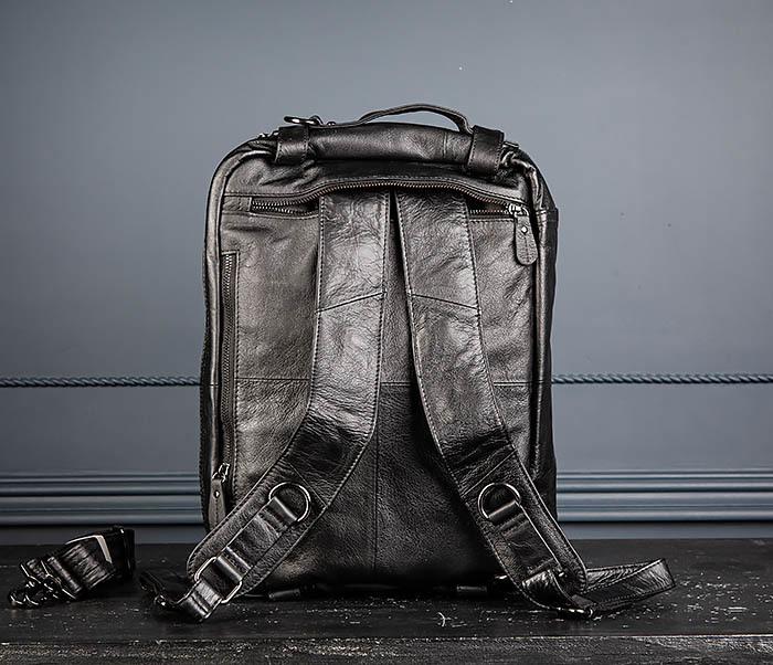 BAG512-1 Портфель рюкзак трансформер из натуральной кожи фото 16