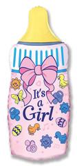 F Мини-фигура Бутылочка для девочки, Розовый, 14''/36 см, 5 шт.