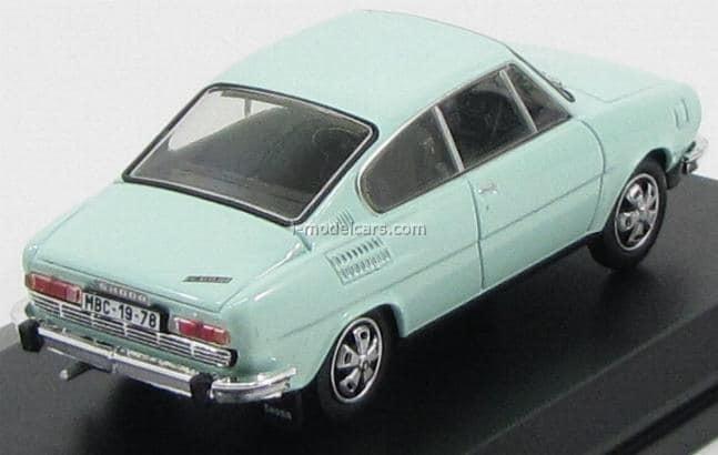 SKODA 110r BLU SCURO 1978 1:43 ABREX modello di auto abs707kn