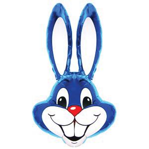 Фольгированный шар Кролик голубой 100 X 56см