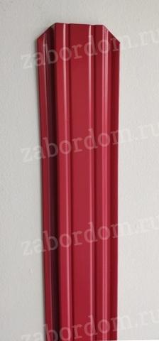 Евроштакетник металлический 85 мм RAL 3003 П-образный 0.5 мм