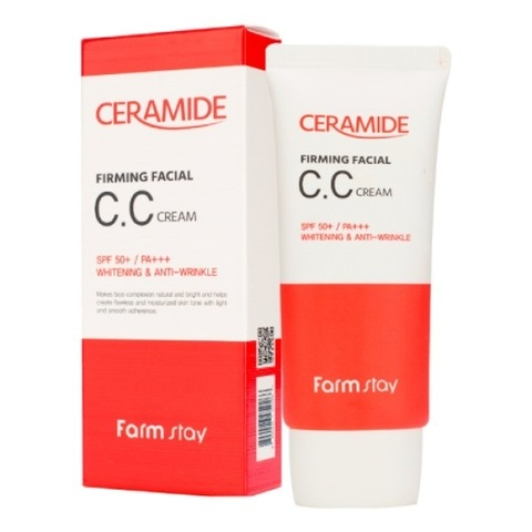 CC крем укрепляющий с керамидами FarmStay Ceramide Firming Facial CC Cream