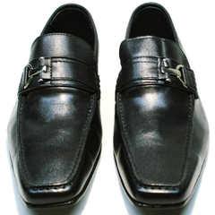 Классические туфли лоферы мужские Mariner 4901 Black.