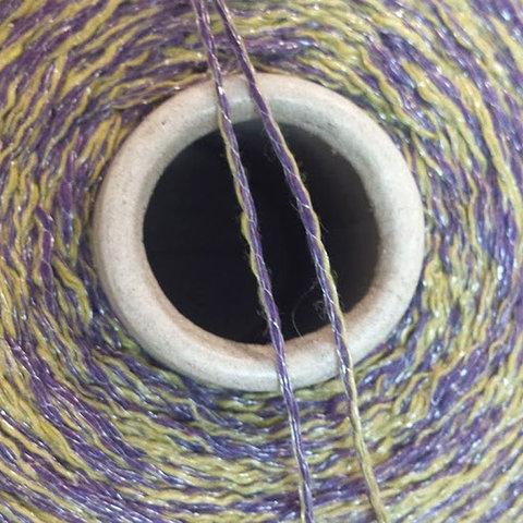Смесовка со льном Casa Del Filato / BERRY  320 фиолетовый с желтым