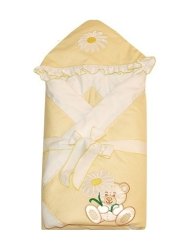 Зимний конверт одеяло для новорожденных Ромашка желтый