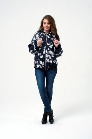 Куртка для беременных 11511 чёрная сакура