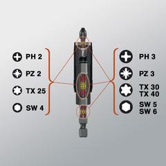 Ударный держатель с магнитом Wera 897/4 IMP с уп.