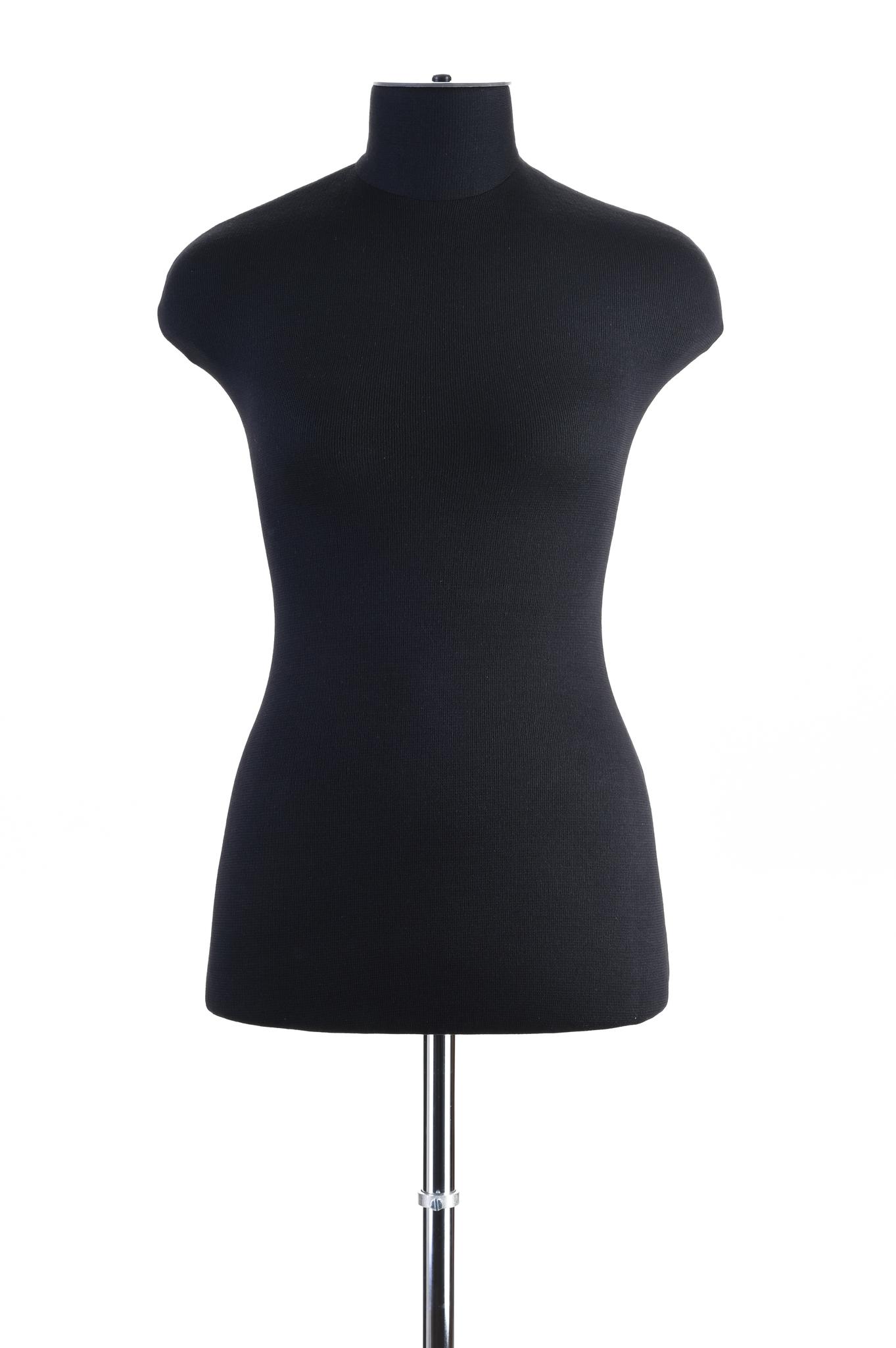 Манекен женский из эластичного пенополиуритана 44 размер (черный цвет)