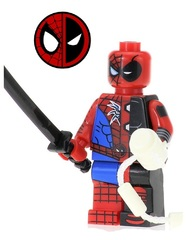 Супергерой минифигурка Дэдпул Паук — Superhero minifigure Deadpool Spider