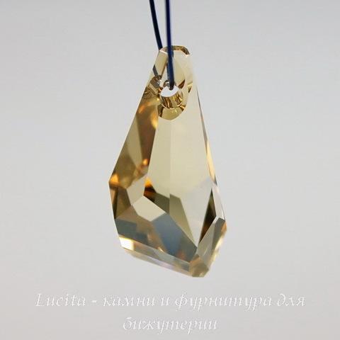 6015 Подвеска Сваровски Polygon Drop Crystal Golden Shadow (17 мм)