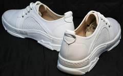 Летние кроссовки женские модные Derem 18-104-04 All White.