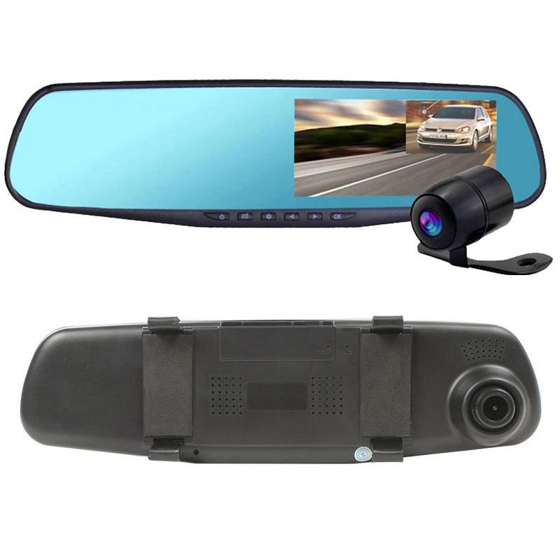 еркало видеорегистратор с камерой заднего вида Vehicle Blackbox DVR Full HD с камерой заднего вида
