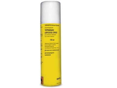 Террамицин аэрозоль-спрей для лечения ран и копыт 150мл