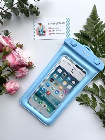 Чехол водонепроницаемый Usams для телефона до 6.0 /blue/ YD007
