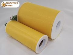 Фатин в рулончиках желтый