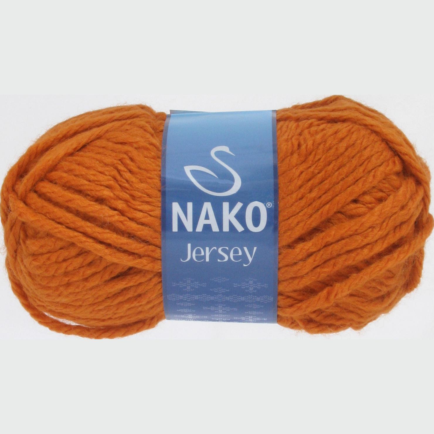 Пряжа Nako Jersey терракот 1968