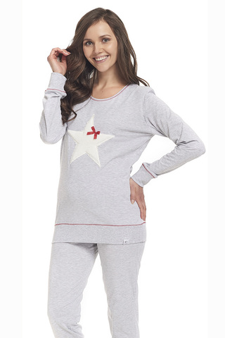 Пижама PM.9313 Grey Melange Doctor Nap