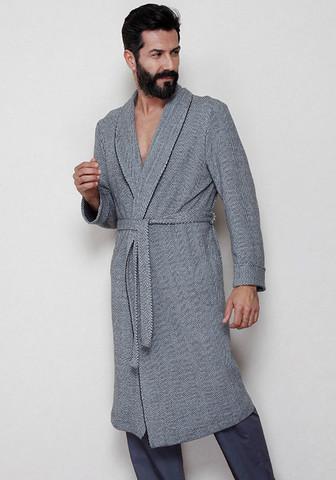 Мужской халат с рисунком 'в елочку'