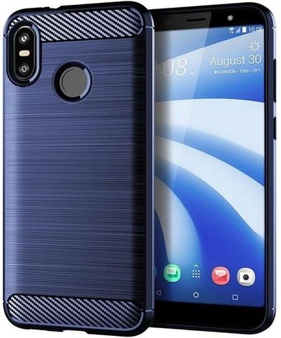 Чехол HTC U12 Life цвет Blue (синий), серия Carbon, Caseport