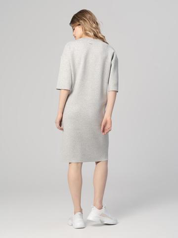 Женское платье цвета серый меланж из вискозы - фото 2