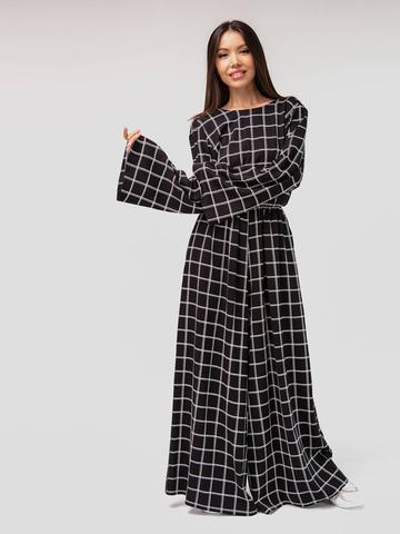 Платье-комбинезон в клетку YOS