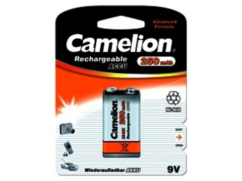 Аккумулятор Camelion 9V 250 mAh Ni-Mh BL1