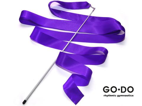 Лента гимнастическая с палочкой. Цвет фиолетовый: PD-02