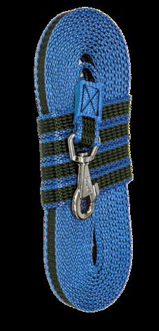 Зооник Поводок капроновый с двойной латексной нитью 5м* 15мм, синий