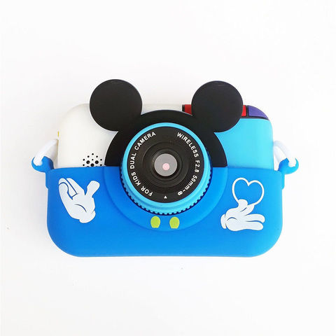 Детский цифровой фотоаппарат Микки Smart Kids Camera 4 Series MIKKI синий