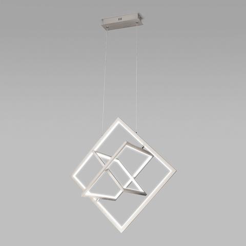Подвесной светодиодный светильник 90224/3 матовое серебро