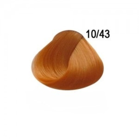 Перманентная крем-краска для волос Ollin 10/43 светлый блондин медно-золотистый