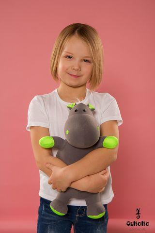 Подушка-игрушка антистресс «Бегемот малыш Няша», зеленый 2