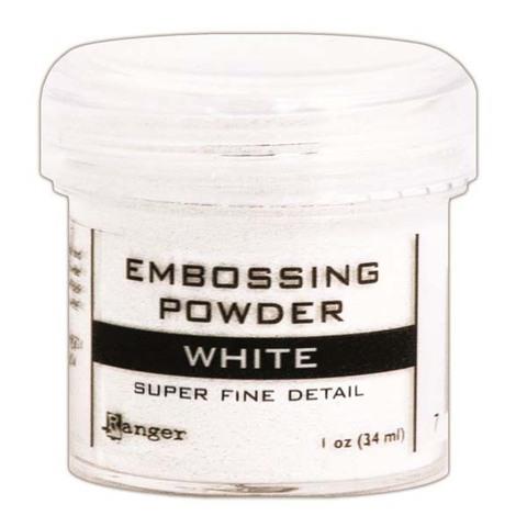 Пудра для эмбоссинга Ranger Ink- WHITE Super fine detail