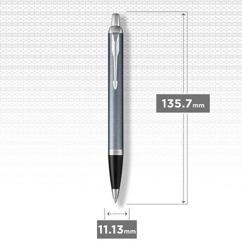 Шариковая ручка Parker IM Metal Light Blue Grey CT123