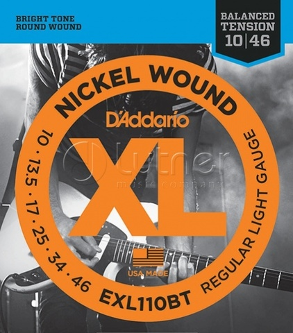 D'Addario EXL110BT Nickel Wound Комплект струн для электрогитары